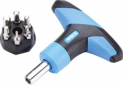 BBB Cycling Unisex Btl-119 Fahrrad Drehmomentschlüssel TorqueFix 4Nm | Werkzeug mit Inklusive Inbusschlüssel 2, 3, Schwarz/Blau, 5 Nm
