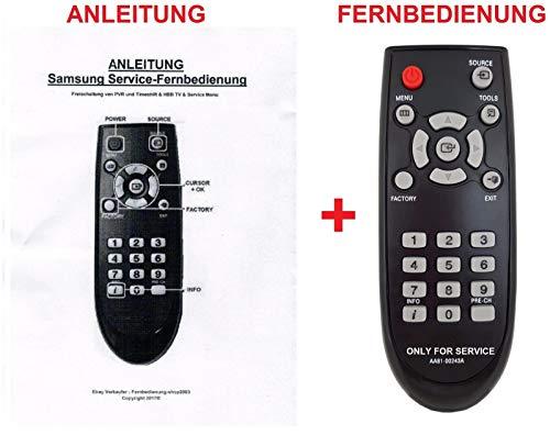 Service-Fernbedienung für Samsung Smart TV M/MU-Serien zur Freischaltung von PVR und TimeShift