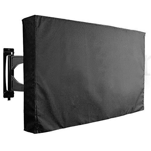 Cubierta de la TV al aire libre W-L cubierta de la TV al aire libre a prueba de polvo e impermeable cubierta de la pantalla durable Oxford negro de la televisión universal (color: 60 a 65 pulgadas)