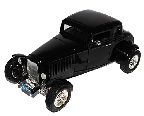 Motormax Ford Coupe 1932 Schwarz Five Window Coupe Hot Rod Oldtimer 1/18 Modellauto Modell Auto