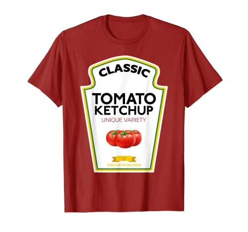 traje de salsa de tomate a juego parejas grupos Condimentos Camiseta