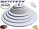 The Bakers Pantry - cake circles-, Sturdy White Corrugated Cardboard,...