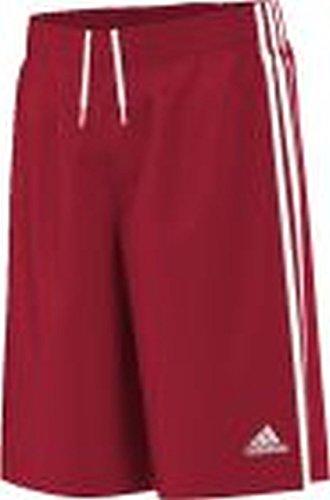 adidas Y Commander S - Pantalón Corto para Hombre, Color Rojo/Blanco, Talla 116