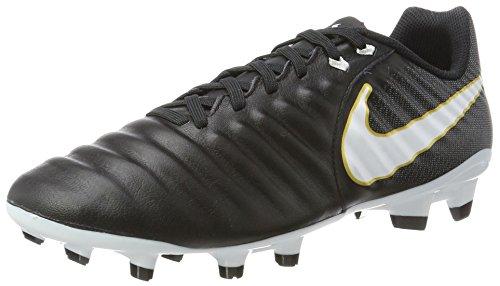 Nike Tiempo Ligera IV FG, Scarpe da Calcio Uomo, Nero (Black/White-Black 002), 38.5 EU