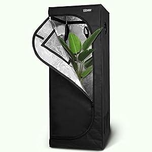 Viewee Tenda da Coltivazione - 60×60×160 cm Grow Box/Grow Tent, Armadio Coltura Interna per Piante Serra, Armadio Grow Idroponico con Oxford 600D e Mylar Premium 95% Riflettività