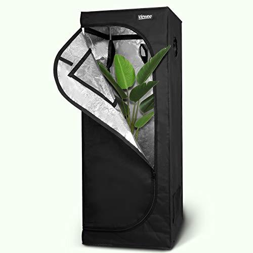 Viewee Armario de Cultivo Interior, 60 × 60 × 160 cm, No Se Ve Afectada por La Temporada/Suficiente Tiempo de Luz, Se Puede Usar para Cultivar Flores/Hogar Plantar, etc.
