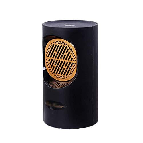 ASDFGH Heizradiator Personal Heizkörper Stehen 400W Fan elektrische Heizung, Heizung & Kühle Einstellungen for Haus, Büro, Schlafzimmer (Color : Black)