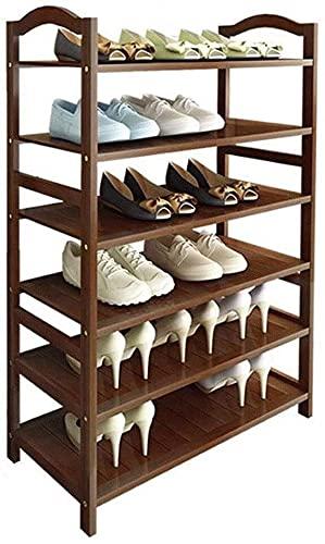 LOGGO Estante de Zapatos de 60 cm de 60 cm Bambú, Espacio de Almacenamiento de Zapatos, Organizador de Almacenamiento de Zapatos para el vestíbulo de Entrada del Armario, sostiene hasta 18-24 Pares
