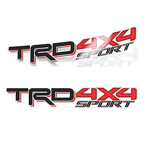 TRD 4x4 Sport Decals for Tacoma Bed, Offroad Racing Development Sticker (Set of 2) (Original)