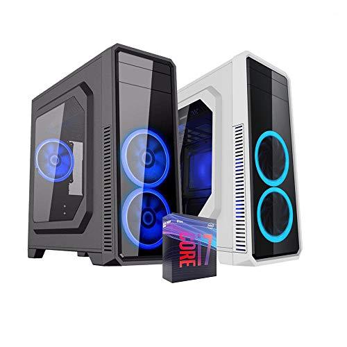 Pc desktop i7 9700,Ram 16 Gb Ddr4, Ssd M.2 500 Gb, Windows 10 Pro,Computer fisso,assemblato,completo per ufficio,Pc fisso i7