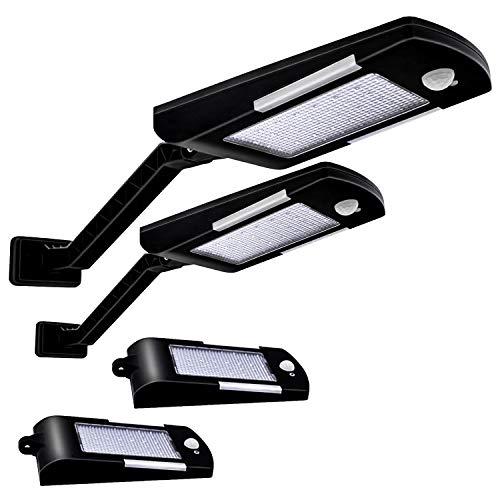 Solarlampen für Außen, 48 LED-Lichter 3 Arten von Solar Wandleuchten, Solarladung IP65 wasserdichte 180 ° verstellbare Solarleuchten, geeignet für Korridore, Garagen, Gärten, Eingänge (2er-Pack)