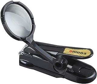 Carreor, tagliaunghie con lente d'ingrandimento in acciaio inox per unghie e piedi per anziani, tagliaunghie professionale...