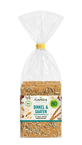 Dr. Karg BIO Dinkel & Saaten Feinschmecker-Knäckebrot, 5er Pack (5 x 200 g Beutel) - Bio