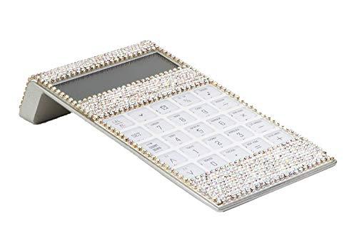 TISHAA Clear Bling Rhinestone Dazzling Crystal Office Desk Calculator