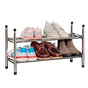 LOVE !T STORE !T Práctico ayudante, zapatero telescópico, extensible, apilable, adecuado para zapatos de niños, 64-118 x 37 x 23 cm