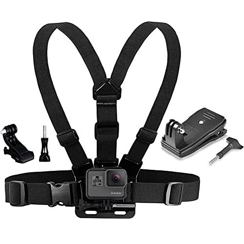 YHTSPORT Correa de arnés de montaje en el pecho compatible con GoPro y mochila de montaje rápido de clip, compatible con cámaras DJI Osmo Xiaomi Yi y otras cámaras