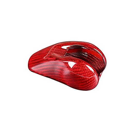 SHOUNAO Cubierta DE Cabeza DE Cambio DE ENGRANO DE CUCHE Trim Activo ADJORAL DE Accesorios DE Carbono Real Carbono Ajuste para Porsche MACAN 718 911 Panamera Cayman 2014-2020 (Color Name : Red)