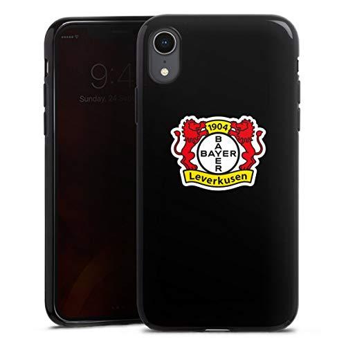 DeinDesign Silikon Hülle kompatibel mit Apple iPhone Xr Case schwarz Handyhülle Bayer 04 Leverkusen Offizielles Lizenzprodukt Logo