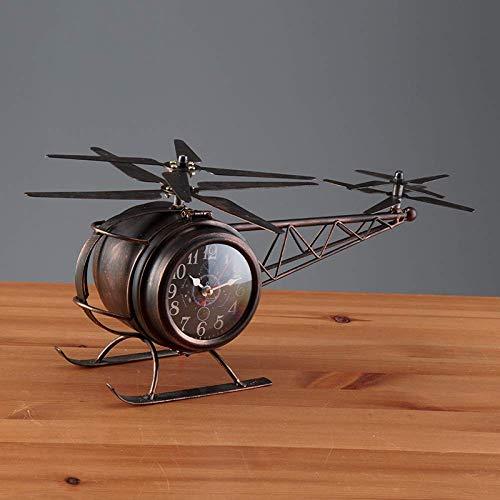 Relojes de la chimenea Permanente de cuarzo reloj de tabla libre de los relojes de la plataforma del reloj del escritorio retro de hierro de doble cara que vive pendiente de escritorio dormitorio sala