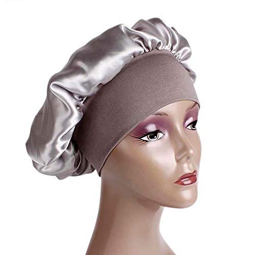 MoonyLI Satin Bonnet -Hat Schlafmütze Sleeping Head Cover Geeignet für Frauen und Mädchen