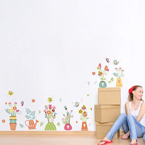 huichang - Pegatinas de pared creativas para pequeños tarros de aseo frescos y creativos