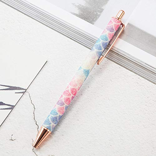KANGKANGBOOS Kugelschreiber 1 stücke Neue flash Kristall stift metall kugelschreiber 1,0mm nib SCHWARZ refill Überlegene büro schreibfeder, bunte A