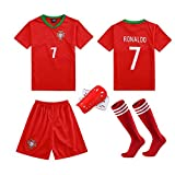 Vêtements De Sport De Football, Convient Aux Enfants, Ensemble De Match, Portugal Team 7# Ronaldo Jersey