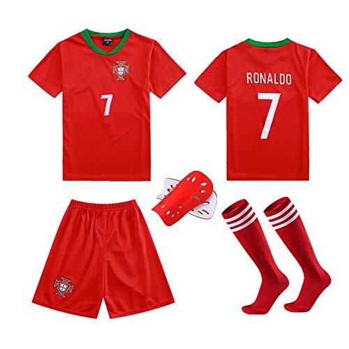LQsy Fußball Sportswear, Für Kinder Geeignet, Match Set, Portugal Team 7# Ronaldo Jersey