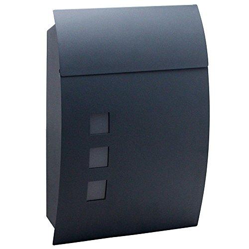 MCTECH Briefkasten Gebürstetes Edelstahl Postkasten Mailbox Zeitung Wandbriefkasten Post Briefkastenanlage Letterbox Anthrazit (K type, anthrazit)