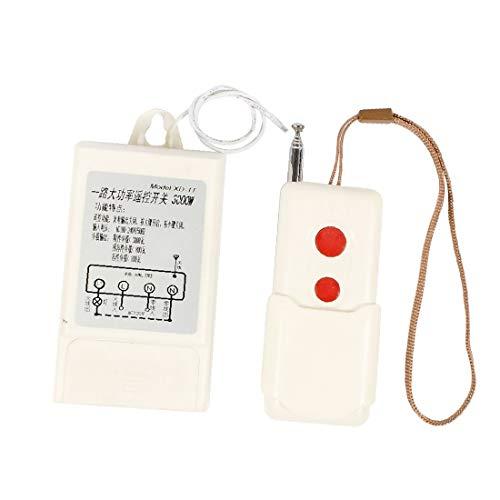 X-DREE Interruptor de control remoto inalámbrico de luz de alta potencia de 220V solo 3000w (dd90e16f31f0bba6e785c6408cf88ec7)