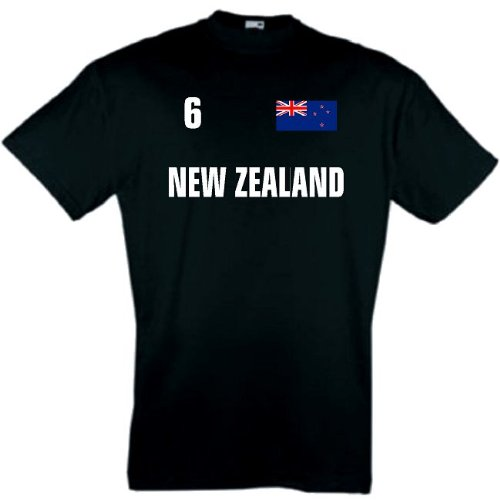 world-of-shirt Herren T-Shirt Neuseeland New Zealand Trikot 1-