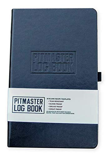 BBQ Pitmaster Log Book Journal with blank recipe templates