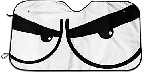 ChinaOEM Angry Eyes Funny Theme Block UV Sun Visor Protector auto Parts Windshield auto Parts Sun Blinds to Keep The Vehicle Cool