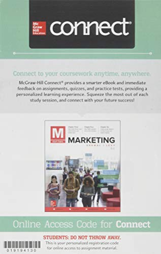 Connect 1-Semester Access Card for M: Marketing