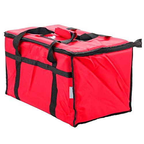 Red Nylon Insulated Food Delivery Bag 23