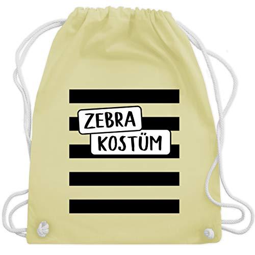 Shirtracer Karneval & Fasching - Zebra Kostüm - Unisize - Pastell Gelb - Geschenk - WM110 - Turnbeutel und Stoffbeutel aus Baumwolle