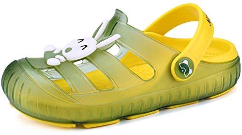 Gaatpot Sabot Zoccoli Scarpe Sandali Ragazzi Ragazze Ciabatte Pantofole Scarpette Mare Unisex - Bambini Verde 29