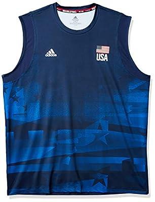 adidas Mens USA Volleyball Jersey Primeblue Team Navy Blue