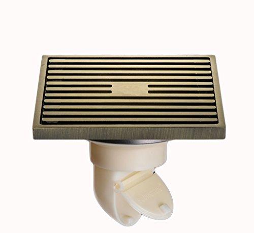 DGF Drain de plancher en cuivre, vidange de plancher de contrôle d'égout de toilette de salle de bains (L100mm * W100mm) (Couleur : A)