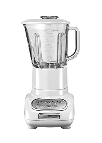 Kitchenaid 5KSB5553EWH - Licuadora, color blanco y transparente