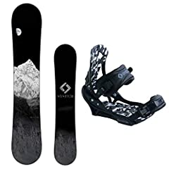 System MTN and APX Men's Snowboard Package :Simply one of the best all mountain setups we have to offer, this package will take you everywhere! Featuring System's MTN snowboard designed to float in powder, power through trees and still handle park la...
