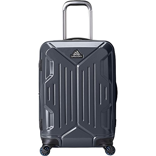 Gregory Quadro 22 Inch Expandable Hardside Carry-On Spinner Luggage (Slate Black)