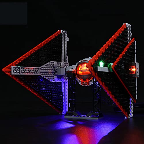 Kit De Iluminación LED para Star Wars Sith Tie Fighter - Compatible con Lego 75272 Building Blocks Model(NO Incluido En El Modelo)