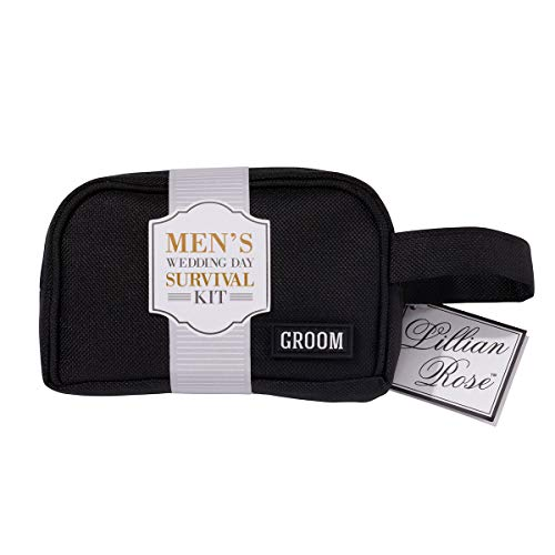 Lillian Rose Groom Wedding Day Mini Emergency Survival Kit, 5.25'x4', Black