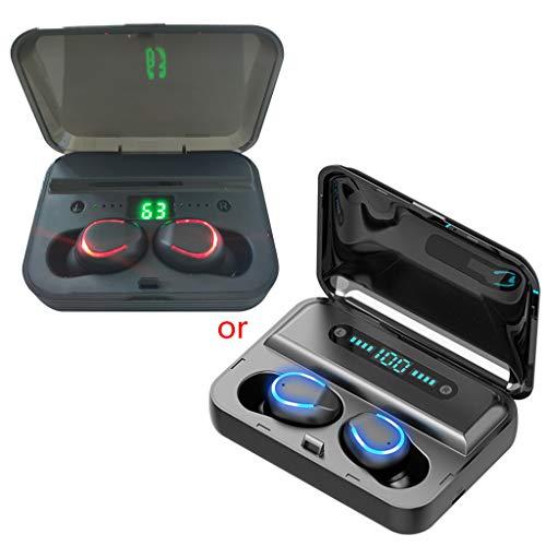 ZHINTE Audífonos F9-5 Auriculares internos inalámbricos 5.0 compatibles con Bluetooth Pantalla LED Deporte