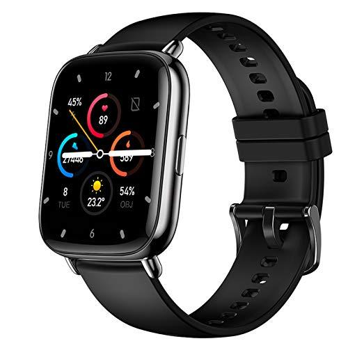 APCHY Smartwatch Reloj Inteligente,Rastreador De Ejercicios De Pantalla 1.69 con Monitoreo De Temperatura Corporal Frecuencia Cardíaca Presión Arterial Monitoreo De Oxígeno En Podómetro,Negro