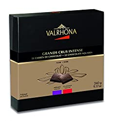 Valrhona 52 French Gourmet Chocolate Squares Guanaja & Abinao, Dark chocolate 70% and 85% cocoa, Gift box 9.17 oz