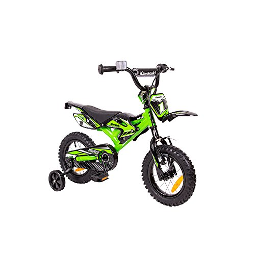 Kawasaki Kinderfahrrad Kids Bike Kasaii Moto 12 Zoll mit Rücktrittbremse Farbe: Grün