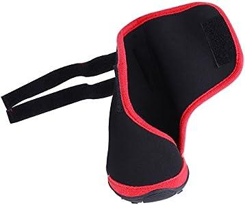Fdit 4pcs Botas para Perros Mascotas Impermeable Antideslizante Cachorro Zapatos al Aire Libre de Invierno Protectores de Pata para Caminar Senderismo Viajes Nieve(Rojo M)