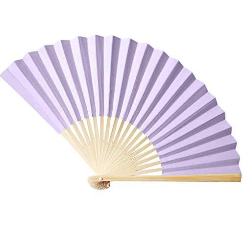 LXTIN Abanico Plegable, abanicos de Mano de bambú de Seda, abanicos Grandes Chinos japoneses para Fiestas de Baile, Regalos de Boda, decoración de Bricolaje, Decoraciones para el hogar (